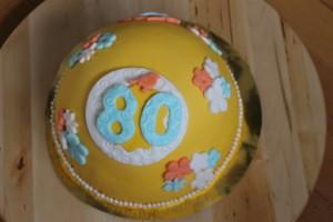 Verjaardagstaart 80