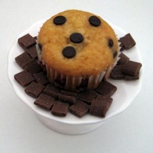 Cupcake met chocolade