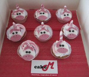 Roze eenhoorncupcakes