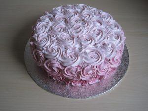 Ombre Rose Cake Burgundy