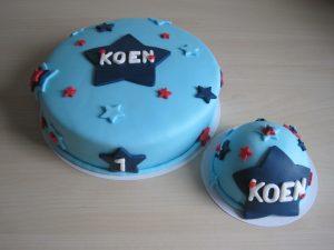 Verjaardagstaart jongen ~ sterren