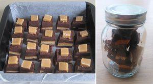 Chocolade fudge met karamel!