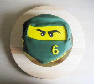 Ninjago taart met cijfer