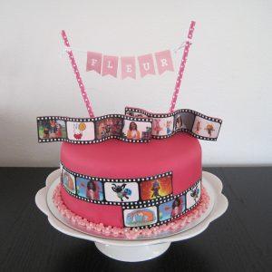 Filmrol taart Fleur