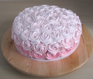 Ombre Rose Cake ~ Pink