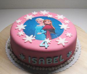 Frozen, Anna en Elsa in het roze.
